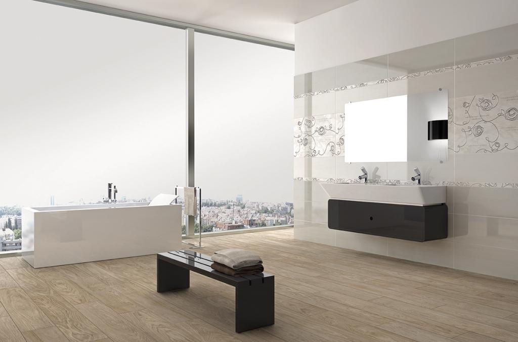 Piastrelle bagno grigio e rosa piastrelle per pavimenti e